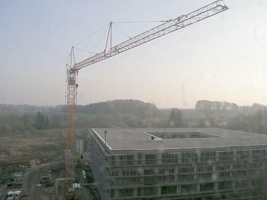 Neues Verwaltungsgebäude im Bau